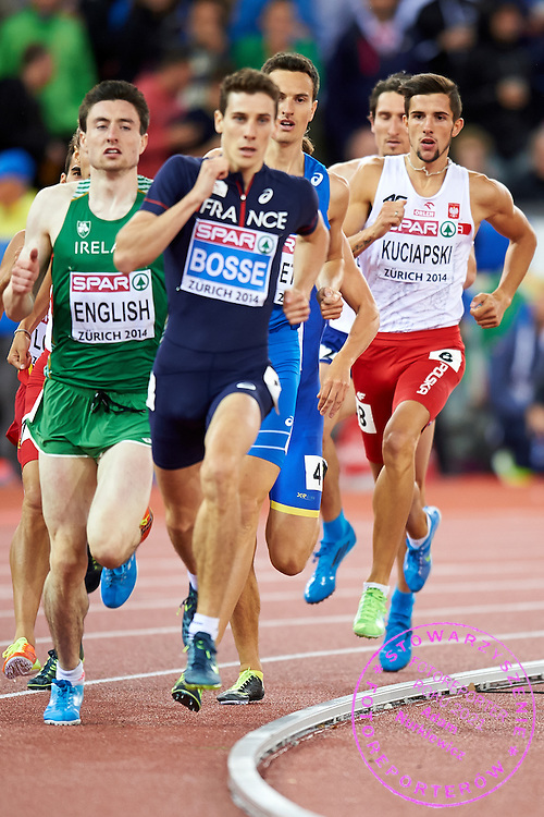 Artur Kuciapski from Poland competes in men's 800 meters Semi-Final during the Second Day of the European Athletics Championships Zurich 2014 at Letzigrund Stadium in Zurich, Switzerland.<br /> <br /> Switzerland, Zurich, August 13, 2014<br /> <br /> Picture also available in RAW (NEF) or TIFF format on special request.<br /> <br /> For editorial use only. Any commercial or promotional use requires permission.<br /> <br /> Photo by &copy; Adam Nurkiewicz / Mediasport