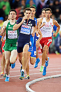 Artur Kuciapski from Poland competes in men's 800 meters Semi-Final during the Second Day of the European Athletics Championships Zurich 2014 at Letzigrund Stadium in Zurich, Switzerland.<br /> <br /> Switzerland, Zurich, August 13, 2014<br /> <br /> Picture also available in RAW (NEF) or TIFF format on special request.<br /> <br /> For editorial use only. Any commercial or promotional use requires permission.<br /> <br /> Photo by © Adam Nurkiewicz / Mediasport