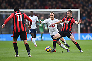 Christian Eriksen (23) of Tottenham Hotspur battles for possession with Dan Gosling (4) of AFC Bournemouth during the Premier League match between Bournemouth and Tottenham Hotspur at the Vitality Stadium, Bournemouth, England on 11 March 2018. Picture by Graham Hunt.