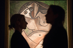 © licensed to London News Pictures. London, UK 01/02/2013. 'Nu accroupi' painted by Pablo Picasso on 14 February 1960 - Valetine's Day expected to be sold for £3,000,000 - 5,000,000 in Christie's Impressionist and Modern Art sale which will take place in London on 6th February 2013, total pre-sale estimate of the auction is £98.3 million to £146.58 million. Photo credit: Tolga Akmen/LNP
