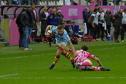 January 5, 2019 - Paris, France - Perpignan scrum half DAVID MELE in action during the French rugby championship Top 14 match between Stade Francais and  Perpignan at Jean Bouin Stadium in Paris - France..Stade Franais won 27-8 (Credit Image: © Pierre Stevenin/ZUMA Wire)