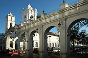 Iglesia San Francisco from San Alberto Street, Sucre, Bolivia