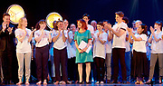 Gala for Grenfell<br /> imagined &amp; directed by Arlene Phillips <br /> at the Adelphi Theatre, London, Great Britain <br /> 30th July 2017 <br /> <br /> Arlene Phillips who directed the show being clapped by all the cast after the finale <br /> <br /> <br /> Photograph by Elliott Franks <br /> Image licensed to Elliott Franks Photography Services