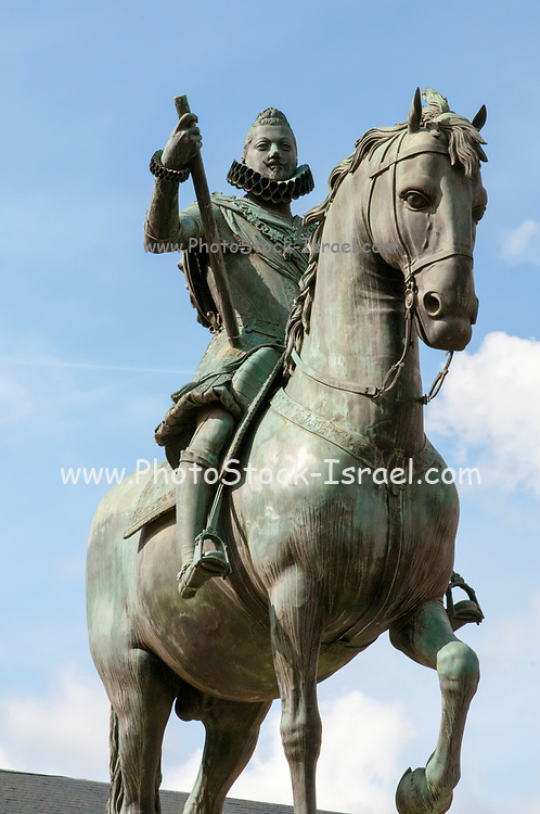Equestrian statue of King Philip III, Plaza Mayor, Madrid, Spain