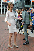 Koningsdag 2014 in Amstelveen, het vieren van de verjaardag van de koning. / Kingsday 2014 in Amstelveen, celebrating the birthday of the King. <br /> <br /> <br /> Op de foto / On the photo:  Prinses Marilene