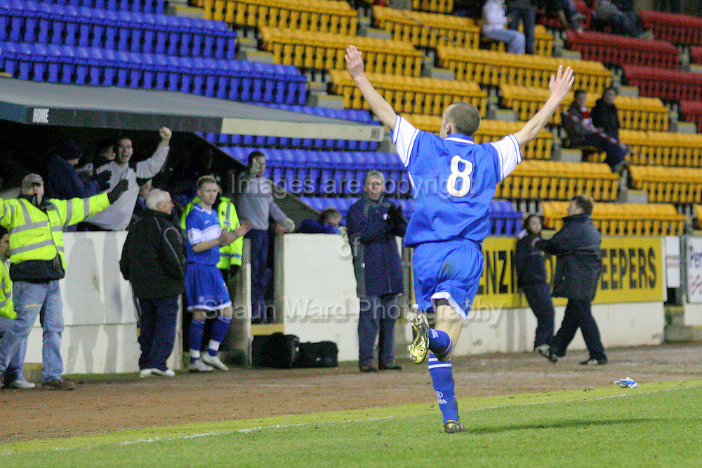Willie McLaren celebrates scoring the winner in their Scottish First Division match against Airdrie Utd played at Mc Diarmid Park 20th January 2007.