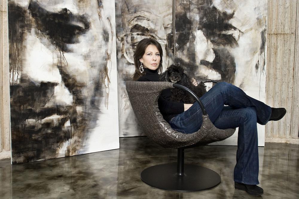 Francesca Leone artista pittrice figlia di Sergio Leone
