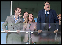 March 13, 2019 - Cheltenham, United Kingdom - Image licensed to i-Images Picture Agency. 13/03/2019. Cheltenham , United Kingdom. Tennis player Andy Murray (left) and his wife Kim Sears watching the racing during Ladies Day on the second day of the Cheltenham Festival  (Credit Image: © Stephen Lock/i-Images via ZUMA Press)