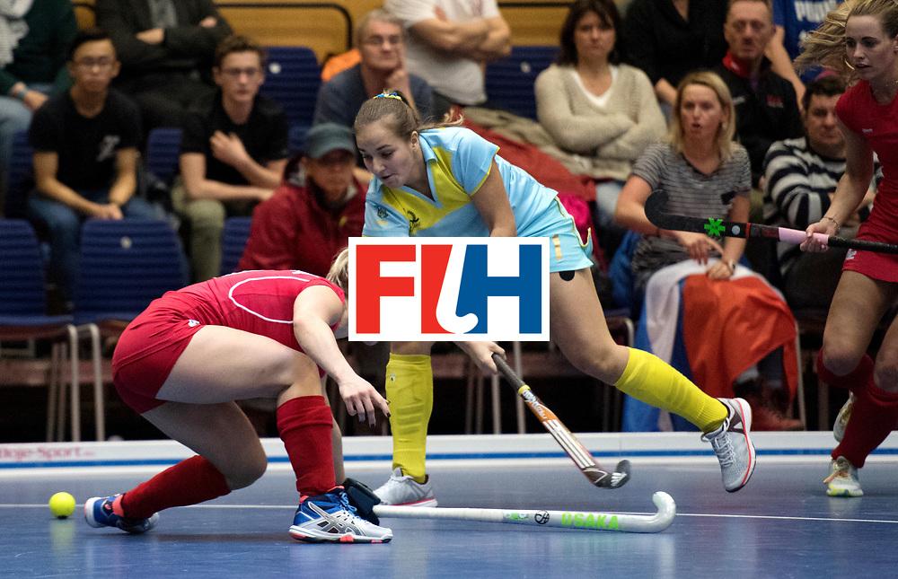BERLIN - Indoor Hockey World Cup<br /> Women: Ukraine - Czech Republic<br /> foto: SHEVCHENKO Yuliia.<br /> WORLDSPORTPICS COPYRIGHT FRANK UIJLENBROEK