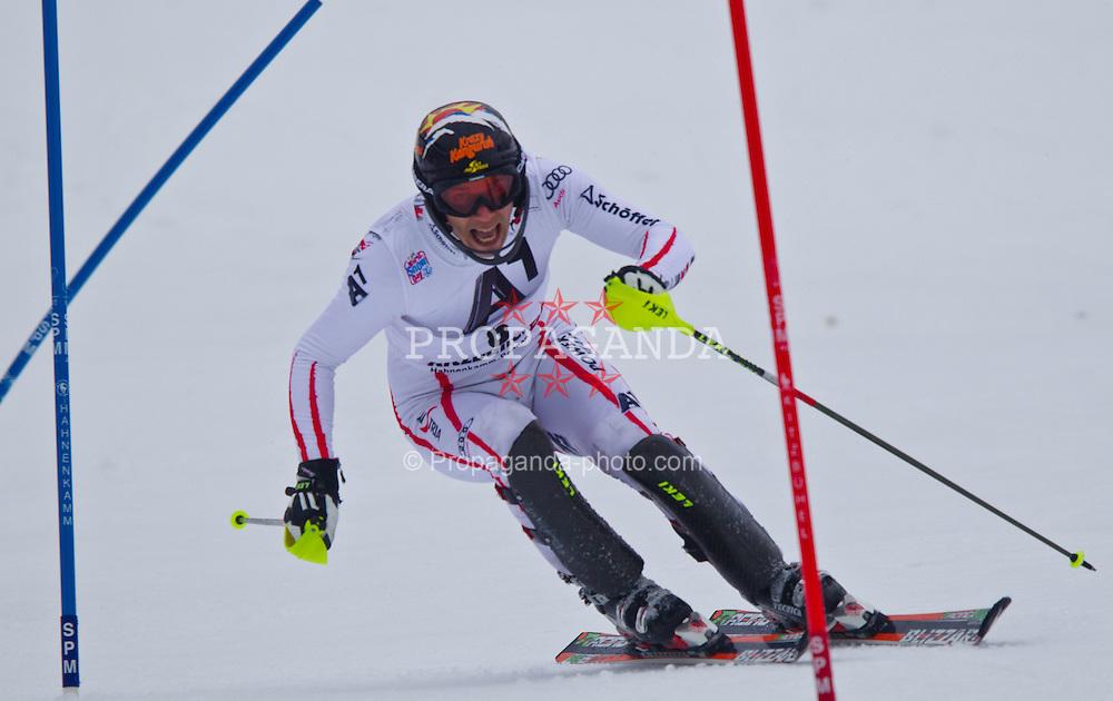 22.01.2012, Ganslernhang, Kitzbuehel, AUT, FIS Weltcup Ski Alpin, 72. Hahnenkammrennen, Herren, Slalom 1. Durchgang, im Bild Mario Matt (AUT) // Mario Matt of Austria during Slalom race 1st run of 72th Hahnenkammrace of FIS Ski Alpine World Cup at 'Ganslernhang' course in Kitzbuhel, Austria on 2012/01/22. EXPA Pictures © 2012, PhotoCredit: EXPA/ Markus Casna