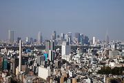 Tokyo seen from a high rise building looking at Shibuya and Shinjuku
