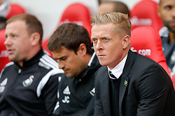 Head Coach Garry Monk of Swansea City looks on - Photo mandatory by-line: Rogan Thomson/JMP - 07966 386802 - 27/08/2014 - SPORT - FOOTBALL - Sunderland, England - Stadium of Light - Sunderland v Swansea City - Barclays Premier League.
