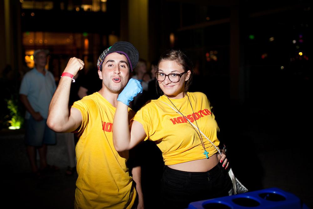 Volunteers; the backbone of Hopscotch Music Festival, City Plaza, Friday, Sept. 8, 2011.
