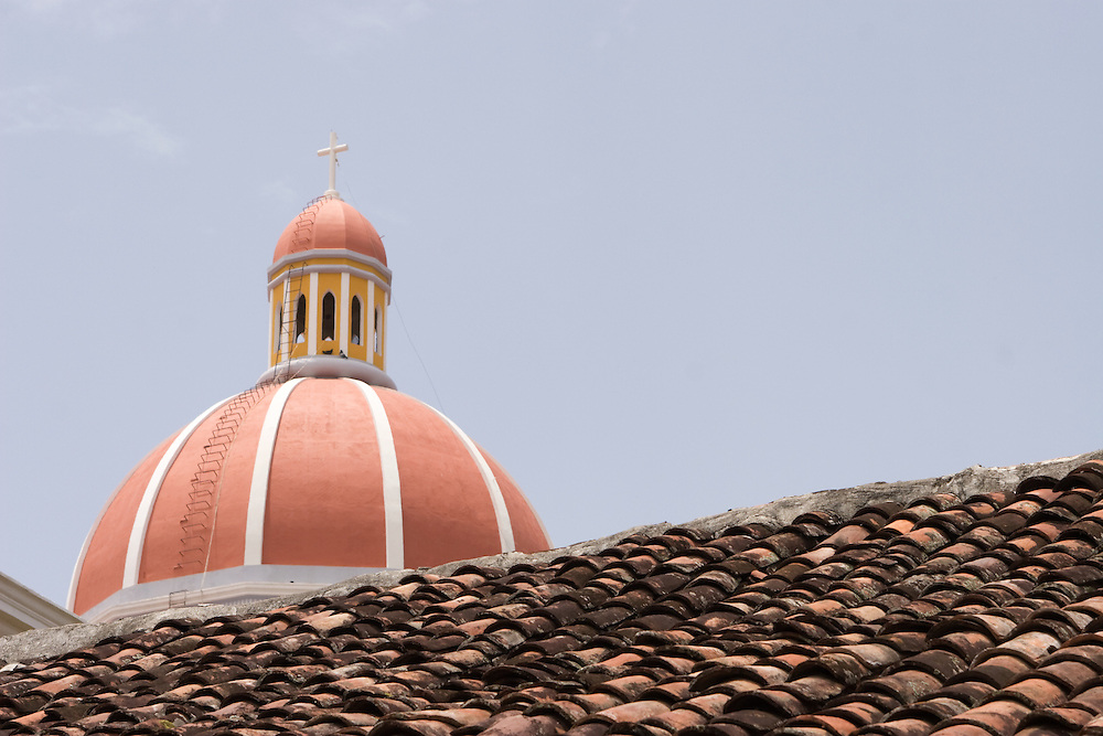The Cathedral of Granada,  a beautiful and traditional piece of architecture in Nicaragua