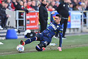 Pablo Hernandez (19) of Leeds United is unable to keep the ball in during the EFL Sky Bet Championship match between Bristol City and Leeds United at Ashton Gate, Bristol, England on 9 March 2019.