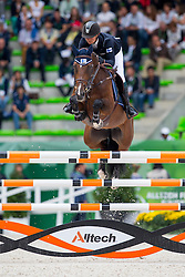 Satu Liukkonen, (FIN), Celestine - Team & Individual Competition Jumping Speed - Alltech FEI World Equestrian Games™ 2014 - Normandy, France.<br /> © Hippo Foto Team - Leanjo De Koster<br /> 02-09-14