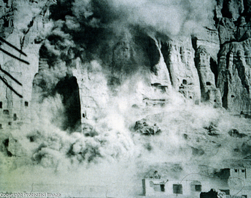 8 March 2001<br /> In February 2001, however, after hours of debate at a day-long cabinet meeting, hard-line conservatives determined to destroy the Bamiyan Buddhas. On 26 February Mullah Omar followed with an edict ordering the destruction of all non-Islamic art. The Buddhas were blown to bits on 8 March 2001. <br /> Photo: Press release.