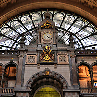 Central Station Passenger Hall Detail, in Antwerp, Belgium<br />