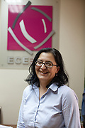 Portrait of Jasminka Frishchikj - Executive Director of ESE at the ESE office in Skopje, Macedonia.