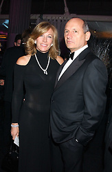 MR & MRS RON DENNIS he is the leading Formula 1 racing figure at the Conservative Party's Black & White Ball held at Old Billingsgate, 16 Lower Thames Street, London EC3 on 8th February 2006.<br />
