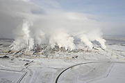 Syncrude extraction and upgrade plant  - Tar Sand (Oil Sand) mining and refining near Ft McMurray Alberta
