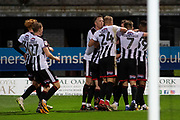 Goal Grimsby Town celebrate as Grimsby Town forward Ahkeem Rose scores a goal 1-0 during the EFL Sky Bet League 2 match between Grimsby Town FC and Crawley Town at Blundell Park, Grimsby, United Kingdom on 17 November 2018.