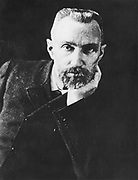 Pierre Curie (1859-1906) French chemist, husband of Marie Curie. In 1903 shared Nobel prize for physics with Marie and with Henri Becquerel for work on radioactivity. Marie's favourite photograph of Pierre.