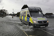 Flood waters remain high after last weeks flooding across the Thames valley. UK<br /> <br /> Picture by Zute Lightfoot