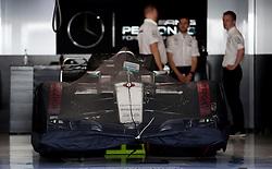 Nico Rosberg's Mercedes ahead of the Abu Dhabi Grand Prix at the Yas Marina Circuit, Abu Dhabi.