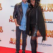 NLD/Amsterdam/20151207- Filmpremiere Bon Bini Holland, Jim Bakkum en Joannne Telesford