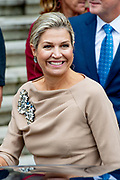 Koningin Maxima en prinses Mabel tijdens de Conferentie voor Mental Health and Psychosocial Support in het Koninklijk Instituut voor de Tropen. <br /> <br /> Queen Maxima and Princess Mabel during the Conference for Mental Health and Psychosocial Support at the Royal Tropical Institute.<br /> <br /> Op de foto / On the photo:  Koningin Maxima / Queen Maxima