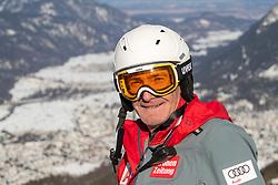 30.01.2020, Kandahar, Garmisch, GER, FIS Weltcup Ski Alpin, Abfahrt, Herren, Absage des 1. trainings aufgrund der schlechten Pistenverhältnisse, im Bild Andreas Puelacher (Sportlicher Leiter ÖSV Ski Alpin Herren) // Andreas Puelacher Austrian Ski Association head Coach alpine Men's prior to the Cancellation of the 1st training due to poor slope conditions of men's Downhill of FIS Ski Alpine World Cup at the Kandahar in Garmisch, Germany on 2020/01/30. EXPA Pictures © 2020, PhotoCredit: EXPA/ Johann Groder
