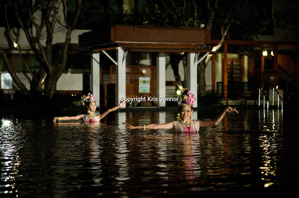 A ceremony takes place at a hotel as part of the Loi Kratong festival in Chiang Mai, Thailand. Photo by Kris Connor