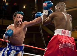 February 17, 2007 - New York, NY - Junior Welterweight contender Paulie Malignaggi wins a unanimous decision over Edner Cherry at Hammerstein Ballroom in New York City.