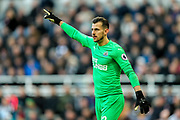 Martin Dubravka (#12) of Newcastle United during the Premier League match between Newcastle United and Everton at St. James's Park, Newcastle, England on 9 March 2019.