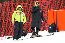 Mitja Kunc, coach of Slovenia, during the 1st Run of Men's Giant Slalom - Pokal Vitranc 2013 of FIS Alpine Ski World Cup 2012/2013, on March 9, 2013 in Vitranc, Kranjska Gora, Slovenia.  (Photo By Vid Ponikvar / Sportida.com)