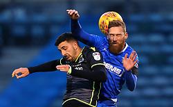 Scott Wagstaff of Gillingham challenges Liam Sercombe of Bristol Rovers - Mandatory by-line: Robbie Stephenson/JMP - 16/12/2017 - FOOTBALL - MEMS Priestfield Stadium - Gillingham, England - Gillingham v Bristol Rovers - Sky Bet League One