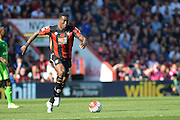 AFC Bournemouth's defender Sylvain Distin moves forward with the ball during the Barclays Premier League match between Bournemouth and Sunderland at the Goldsands Stadium, Bournemouth, England on 19 September 2015. Photo by Mark Davies.