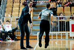 Jurica Golemach, head coach of Sixt Primorska during basketball match between KK Sixt Primorska and KK Petrol Olimpija in semifinal of Spar Cup 2018/19, on February 16, 2019 in Arena Bonifika, Koper / Capodistria, Slovenia. Photo by Vid Ponikvar / Sportida