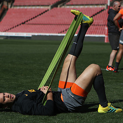 Matias Alemanno of the Jaguares during the Jaguares Captain's Run at the Emirates Airlines Park Stadium,Johannesburg, South Africa. 20,07,2018 (Photo by  Steve Haag Jaguares)