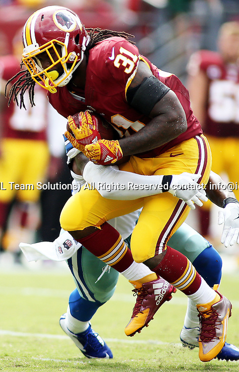 18 September, 2016: Washington Redskins running back Matt Jones (31) in action during a match between the Washington Redskins and the Dallas Cowboys at FedExField in Landover, Maryland. (Photo By: Daniel Kucin Jr./Icon Sportswire)