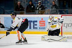 08.01.2017, Ice Rink, Znojmo, CZE, EBEL, HC Orli Znojmo vs Dornbirner Eishockey Club, 41. Runde, im Bild v.l. Nicholas Crawford (Dornbirner) Florian Hardy (Dornbirner) // during the Erste Bank Icehockey League 41th round match between HC Orli Znojmo and Dornbirner Eishockey Club at the Ice Rink in Znojmo, Czech Republic on 2017/01/08. EXPA Pictures © 2017, PhotoCredit: EXPA/ Rostislav Pfeffer