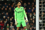 Millwall goalkeeper Jordan Archer during the EFL Sky Bet Championship match between Derby County and Millwall at the Pride Park, Derby, England on 20 February 2019.