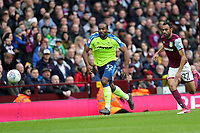 Aston Villa v Derby County - Sky Bet Championship<br /> BIRMINGHAM, ENGLAND - APRIL 28 :  Derby County's Cameron Jerome and Aston Villa's Ahmed Elmohamady, in a chase for the ball