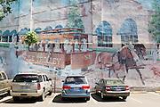 HOT SPRINGS, AR – JUNE 29, 2013: A mural in downtown Hot Springs.