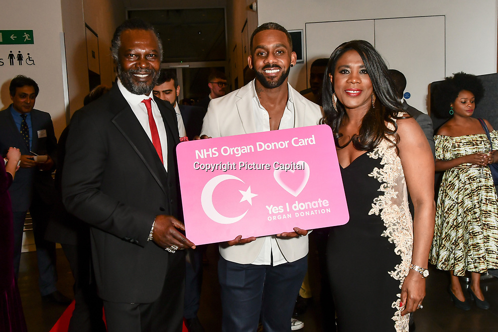 Levi Roots, Richard Blackwood and Joanne Caesar attend The BAME Donor Gala - Awareness gala hosted by the Health Committee with live music and poetry performances at City Hall at The Queen's Walk, London, UK. 18 March 2019.
