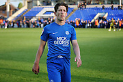 Peterborough midfielder Alex Woodyard claps the fans after the EFL Sky Bet League 1 match between Peterborough United and Burton Albion at London Road, Peterborough, England on 4 May 2019.