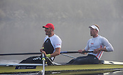 Boston, United Kingdom, Alex GREGORY and Mo SBIHI, in the final 50mts of the trial.  GB Rowing Team October 5km Time Trial, on Sunday  01/11/2015  River Witham,  Lincolnshire <br /> <br /> [Mandatory Credit: Peter SPURRIER: Intersport Images]