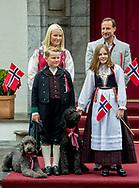 Asker, 17-05-2017 <br /> <br /> Crown Prince Haakon, Crown Princess Mette Marit and Princess Ingrid Alexandra and Prince Sverre Magnus celebrate the National Day of Norway at their estate Skaugum.<br /> <br /> <br /> COPYRIGHT: ROYALPORTRAITS EUROPE/ BERNARD RUEBSAMEN