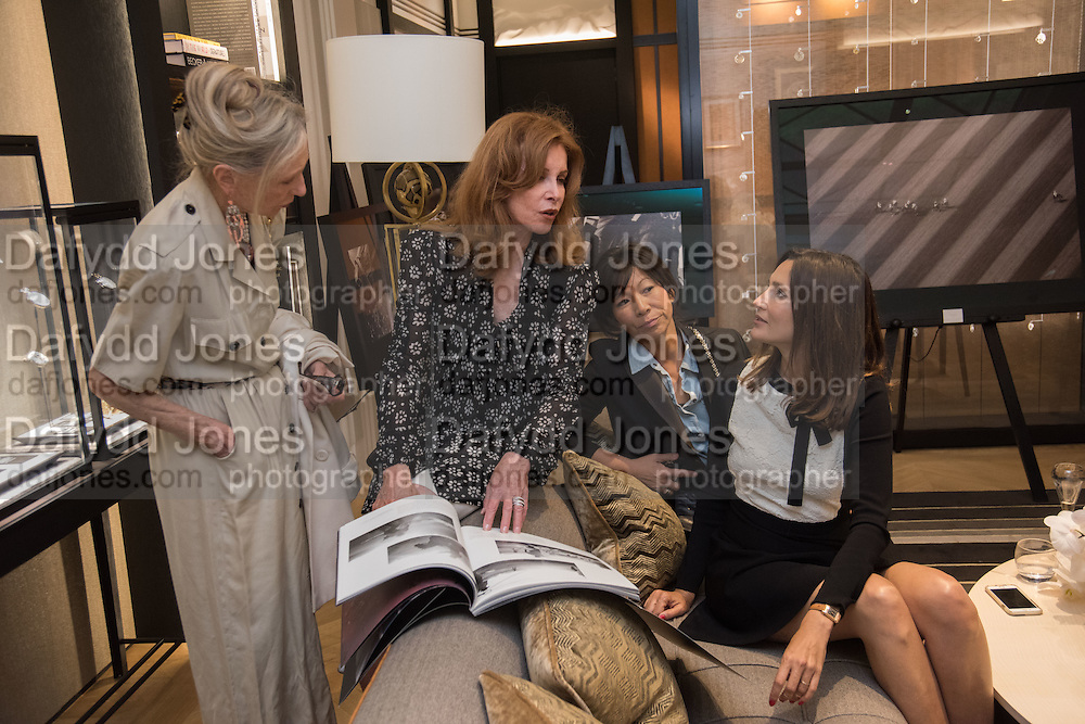 VANESSA CLYDE; SOIJIN LEE; STEPHANIE POWERS; ASTRID MUNOZ preview of 'UNBRIDLED SYNCHRONY', an exhibition of works by photographer Astrid Muñoz. Jaeger-LeCoultre Boutique<br /> 13 Old Bond Street. London. 13 July 2015